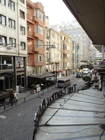 The Central Palace Hotel: street view from open window