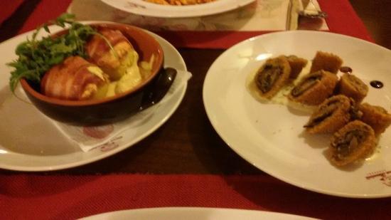 Casa Bunicii - Balcescu: Potatos in mustard sauce and eggplant rolls
