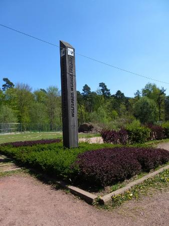 Wolfspark Werner Freund: The sign at the entrance of the Wolf Park