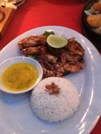 Balboni restaurant: Prawns with garlic sauce