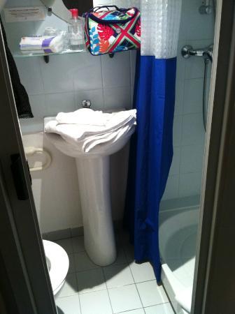 Castel Fleuri : salle de bains-wc:1,5m par 80cm.......