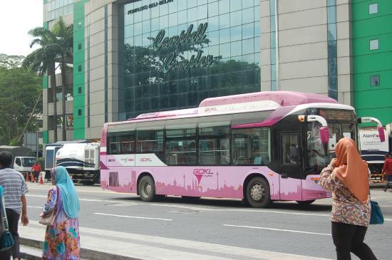 the pink bus Picture of GO KL City Bus Kuala Lumpur TripAdvisor