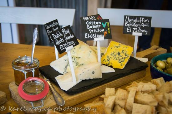 The Gourmet Pig: local cheese board