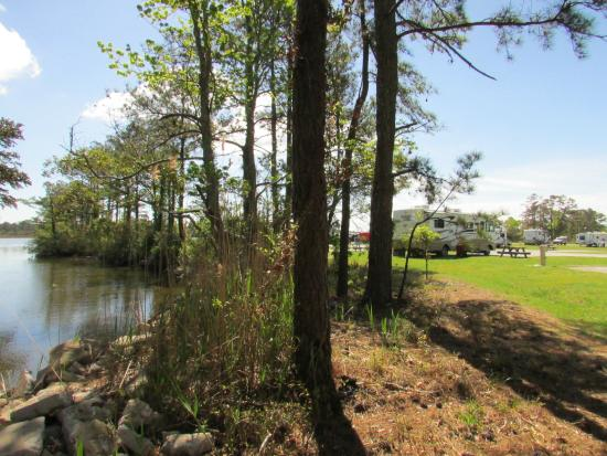 OBX Campground canal sites #1-12