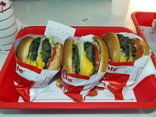 Three Double Double Burgers - Picture of In-N-Out Burger