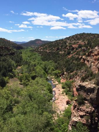 Huckaby Trail: Walk under the bridge for this view