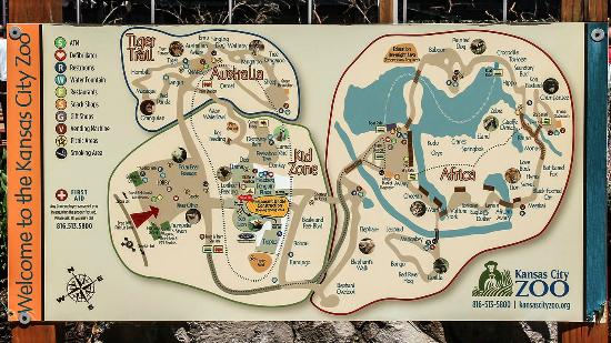 Map of the Zoo. - Picture of Kansas City Zoo, Kansas City - TripAdvisor