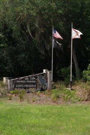 Paynes Prairie State Preserve: Park entrance