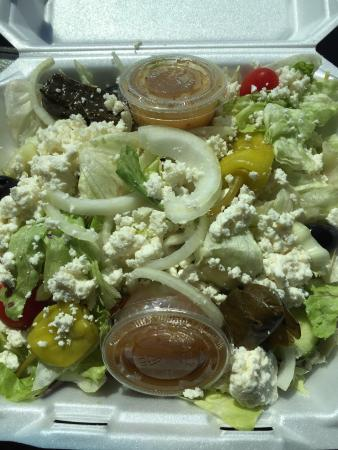 Hogansville, GA: Medium Greek salad