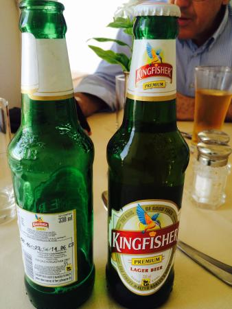 Neemrana Fort-Palace: Tampered Expired Kingfisher Beer being served at Neemrana Fort Palace
