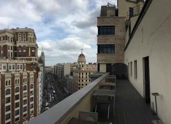 Terraza ático Fotografía De Vincci Capitol Hotel Madrid