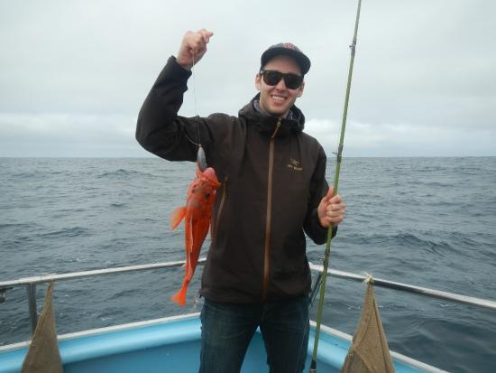 a nice vermilion rockfish picture of chris 39 fishing