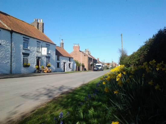 St Quintin Arms Inn: St Quentins and Main St in Harpham village