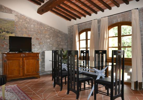 Hotel Villa Campomaggio Resort & Spa : Apartment Living Room