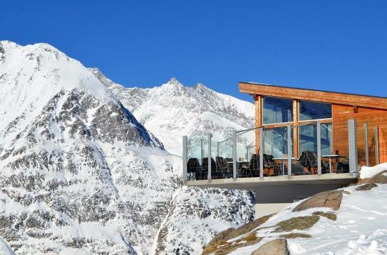 Saas-Almagell, Schweiz: Bergrestaurant Heidbodme