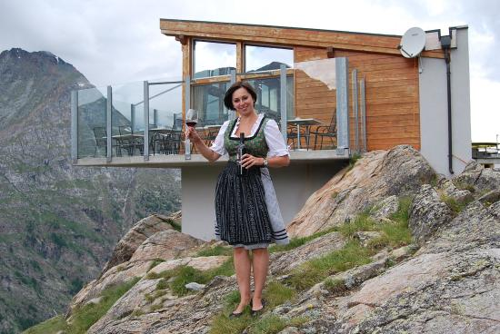 Saas-Almagell, Sveits: Bergrestaurant Heidbodme
