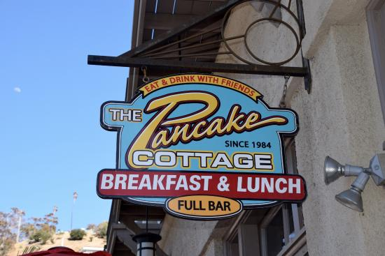 The Cottage Restaurant: Entrance sign