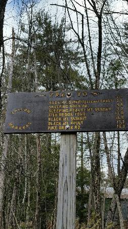 Buck mountain hiking trail : Sign at Pilot Knob