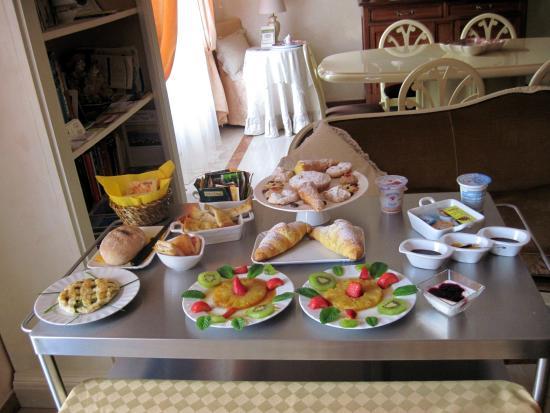 B&B Il Cielo in Una Casa: La colazione del primo giorno