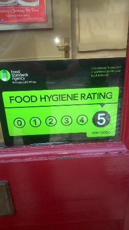 Needham Market, UK: 5 Star Hygiene