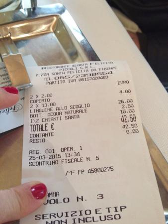 Ristorante Santa Felicita: Ótimo custo/benefício