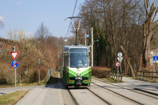 Stoiser's Hotel Garni: Tramway stop