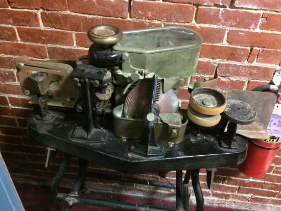 American Philatelic Center: Historical equipment - a sealer/stamper.