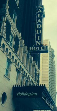 Holiday Inn Aladdin Old and New Street Level signage