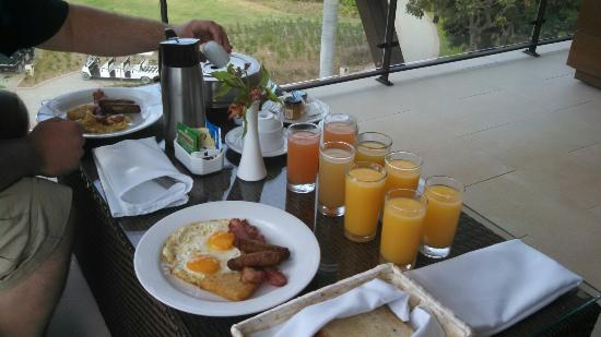 Dreams Las Mareas Costa Rica Huge Room Service Breakfast