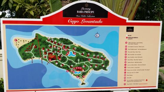 Map of grounds  Picture of Luxury Bahia Principe Cayo Levantado