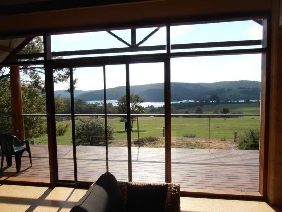 Bluehills Farmstay: The view to Harvey Dam from Chalet 3
