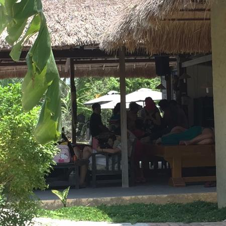 Memento Country Home Resort : People sleeping on the pool table! (who does that?)