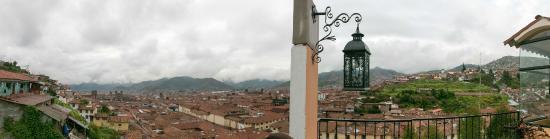 Hostal Qolqampata: Vista desde terraza comedor