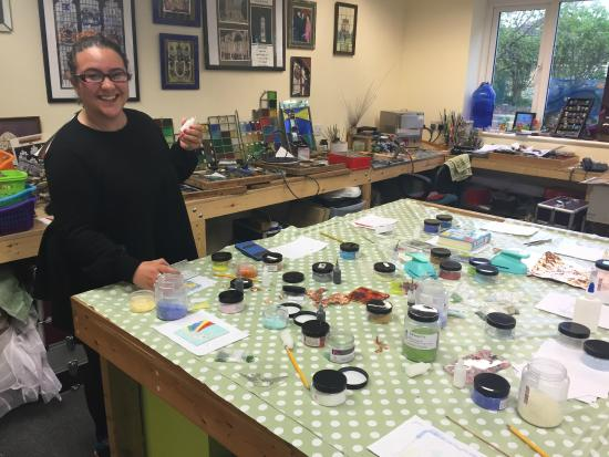 Stained Glass Centre : in the workshop