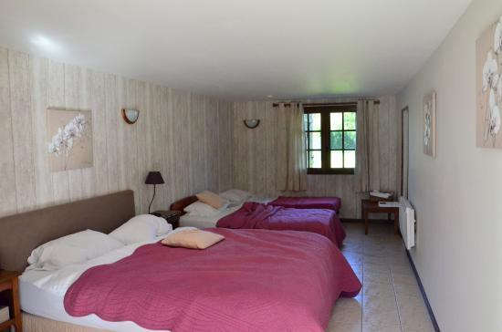 La Grange aux Herbes : Chambre ANETH (avec 1 petit lit rajouté)