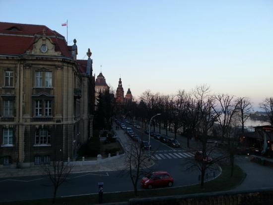 Hotel Focus Szczecin: window view