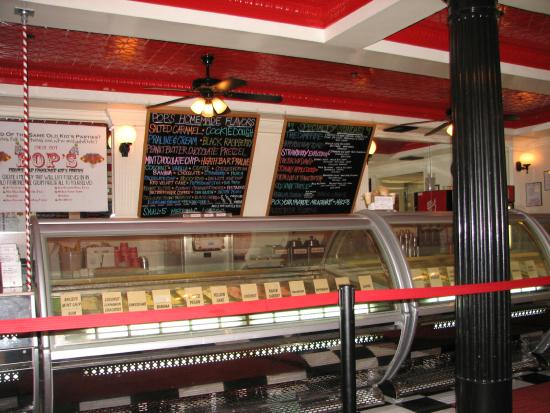 Pops Old Fashioned Ice Cream: Lots of Different Flavor Choices