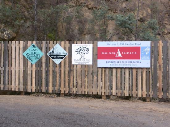 Tasmanian Wilderness Experiences - Base Camp Tasmania: BCT Entrance, Glenfern