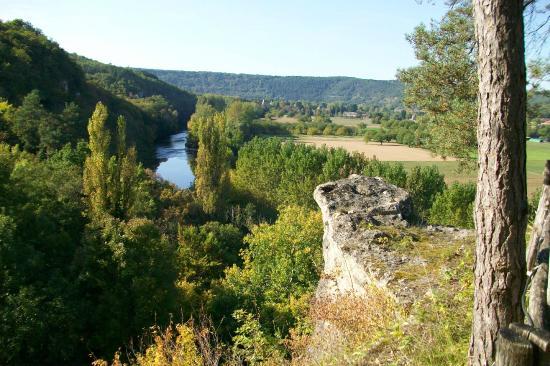 Auberge de Castel Merle: vue de la Vézère