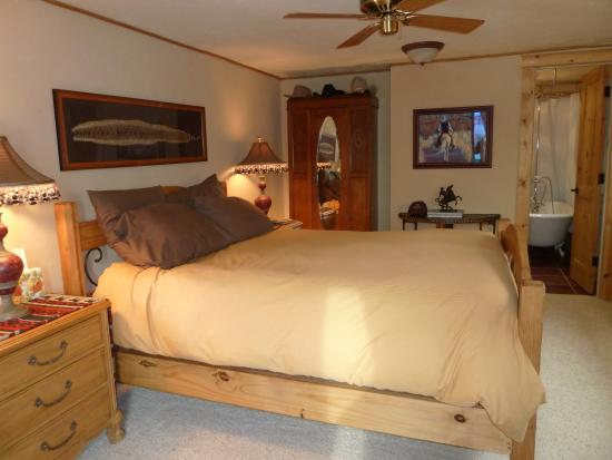 sundance bedroom private bath balcony western theme picture of