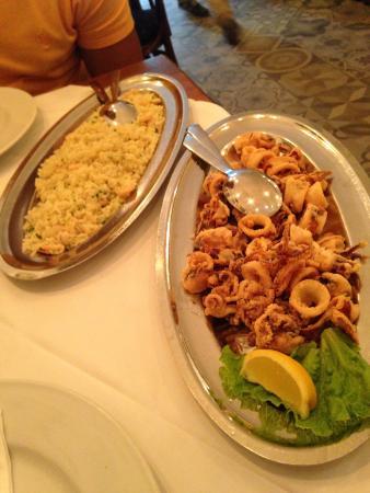 Macondo: Risotto and squid