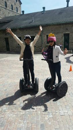 Go Tours Canada : After the segway ride. The helmets provide were awesome