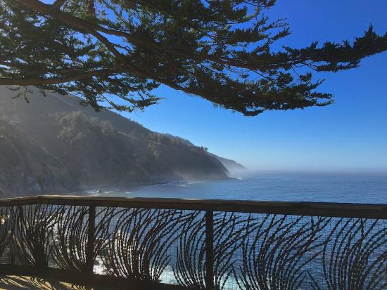 The Esalen Institute: from the balcony of the breakfast area...