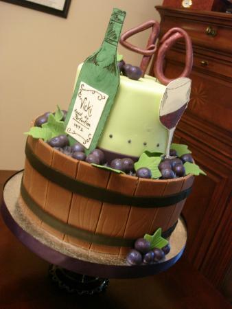 Mad Elizas Wine Themed Cake