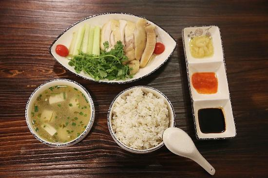 Kampong Chicken House Hainan Chicken Rice Always Come With Rice Three Sauces