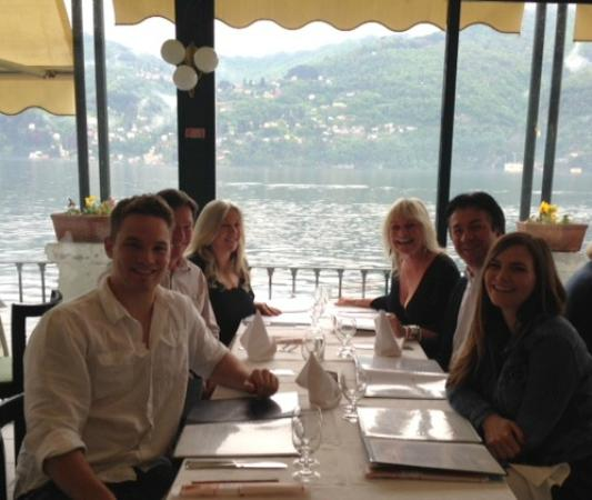 Albergo Ristorante Fioroni: The amazing view. Not us - the lake!