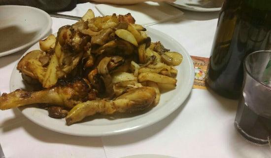 Il pollo scucchiato con i funghi - Picture of La Terrazza, Mercato ...
