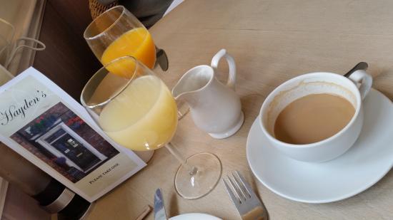 Hayden's: Juice and coffee - delicious!