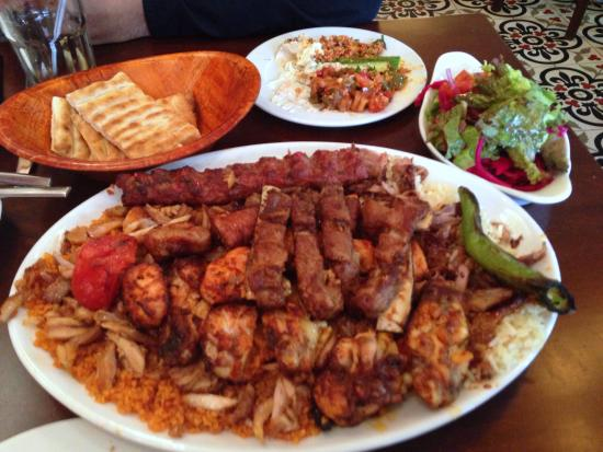 Meat platter picture of antep turkish cuisine for About turkish cuisine