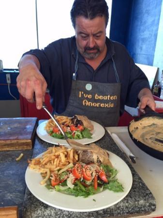 Chez Laurent: Chef in action